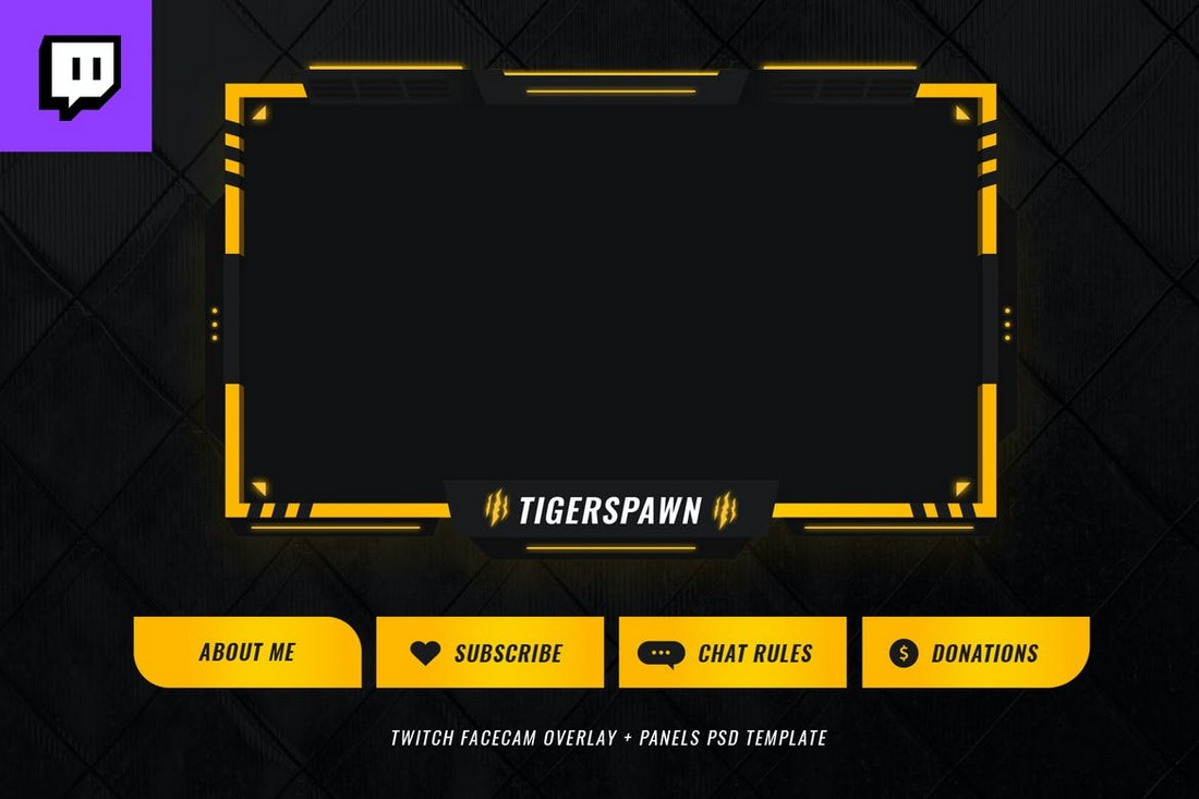Tigerspawn - Twitch Stream Overlay Template