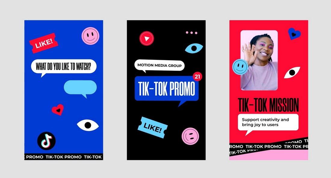 TikTok Stories Pack Video Templates