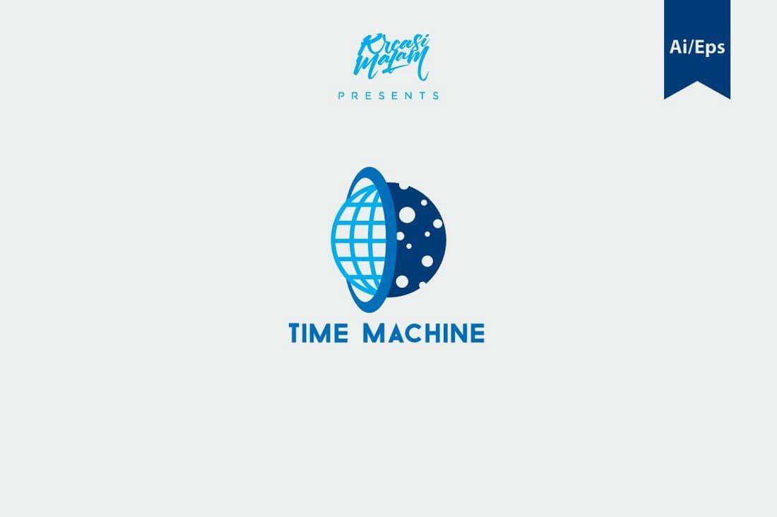 Time-Machine-Logo-Template 50+ Best Minimal Logo Design Templates design tips