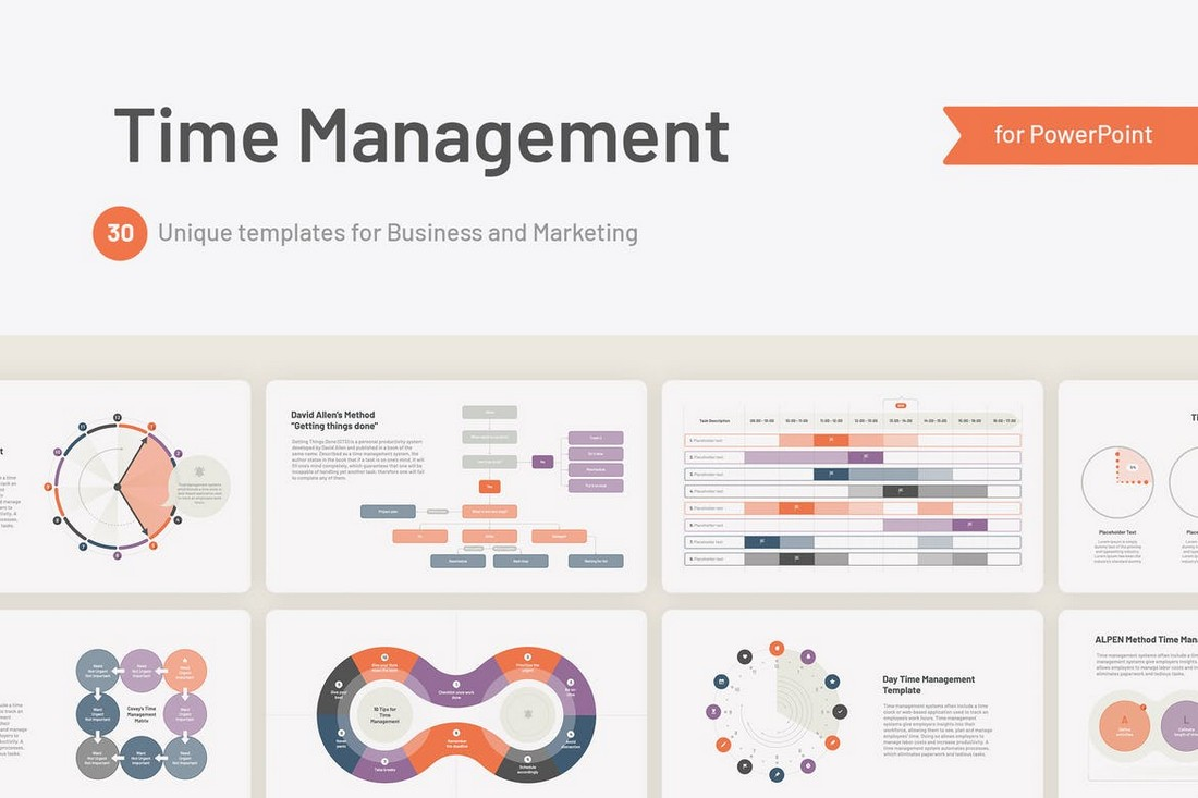 Time Management Charts PowerPoint Slides