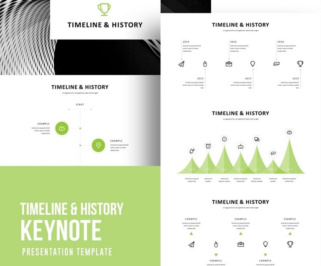 Timeline-History-Free-Keynote-Template 50+ Best Free Keynote Templates 2020 design tips