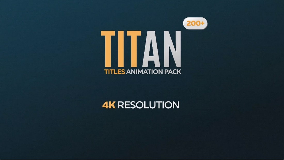 Titan - Animated Titles Pack for Premiere Pro