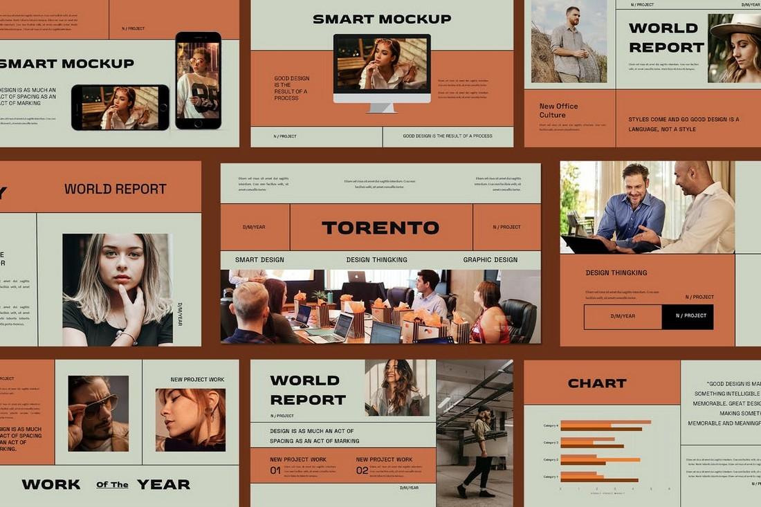 Torento - Unique Google Slides Template