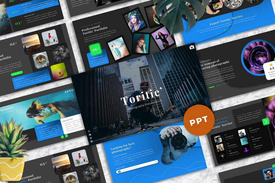 Toritie - Photography Powerpoint Portfolio Template