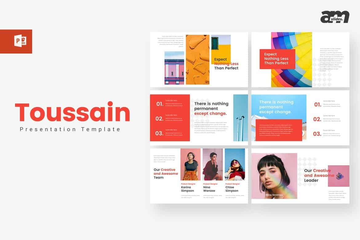 Toussain Creative Powerpoint Template