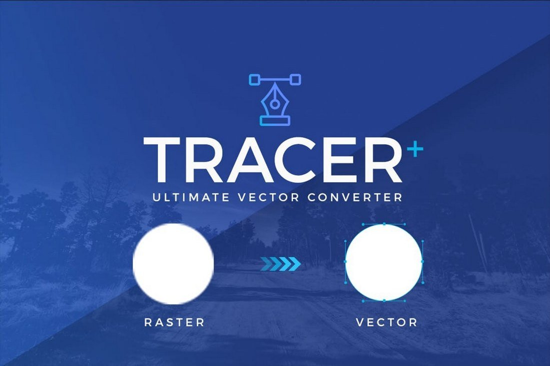 Tracer Plus - vector image