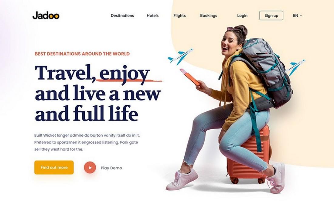Travel Agency Free Adobe XD Website Template