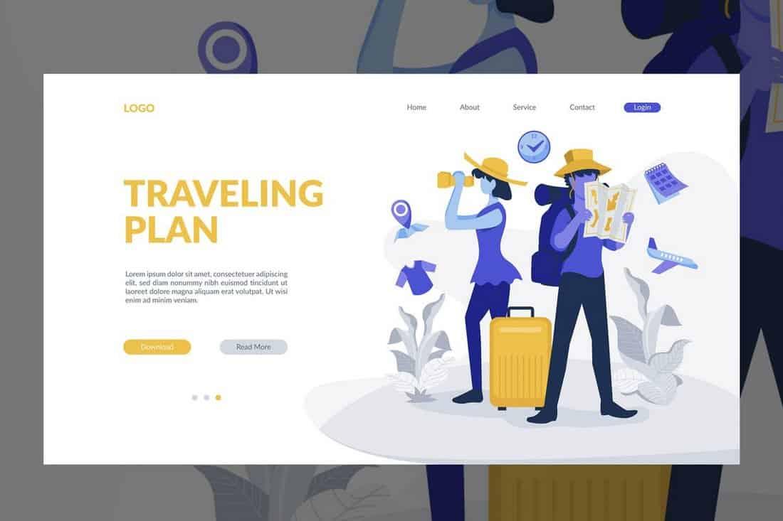 Bannière de voyage et fond de site Web  20+ meilleurs modèles de fond Travel Banner Website Background
