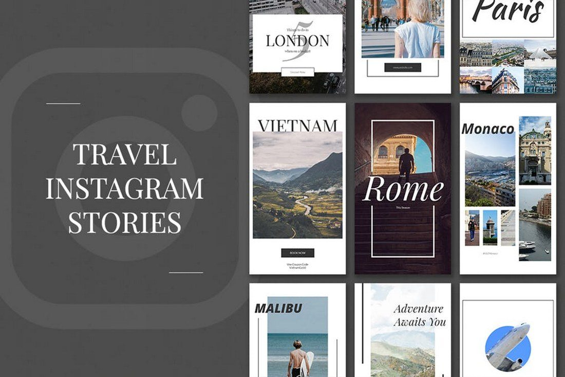 Travel-Instagram-Stories 30+ Best Instagram Templates & Banners design tips