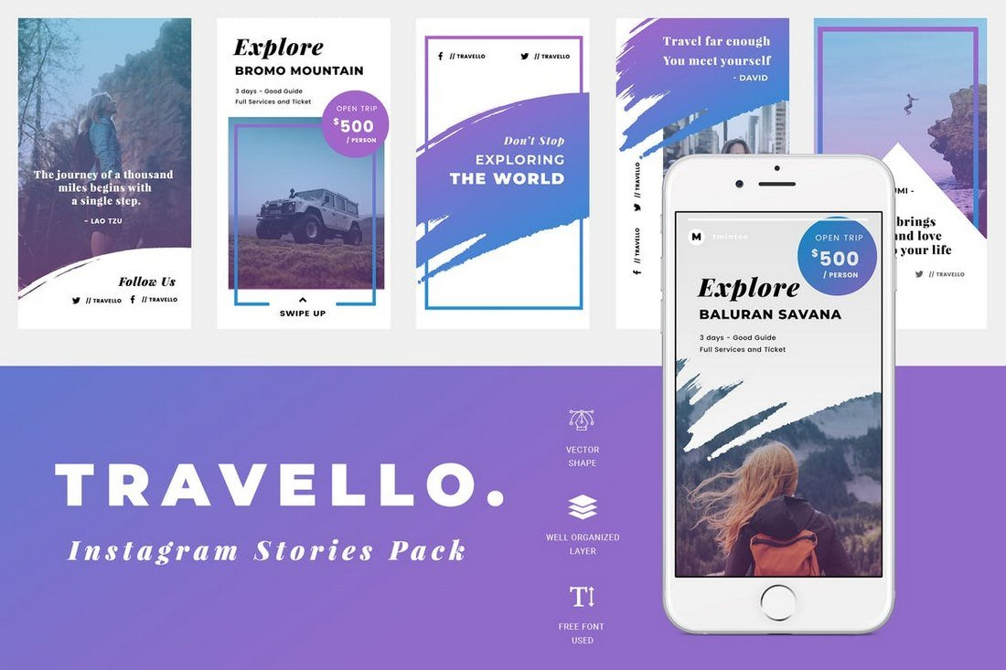 Travel-Instagram-Story-Templates 30+ Best Instagram Templates & Banners design tips