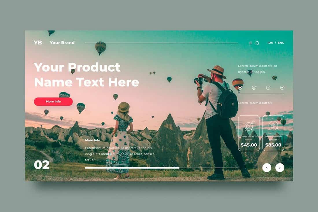 Travel & Photography Background Template