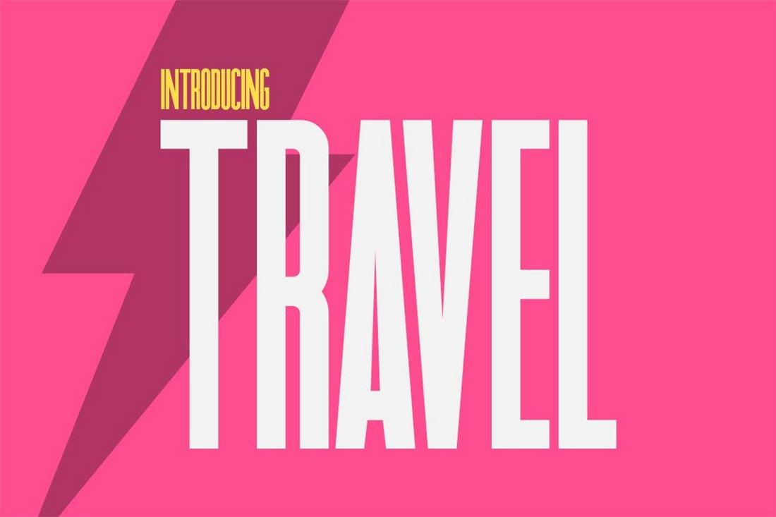 Travel Sans - Narrow Title Font