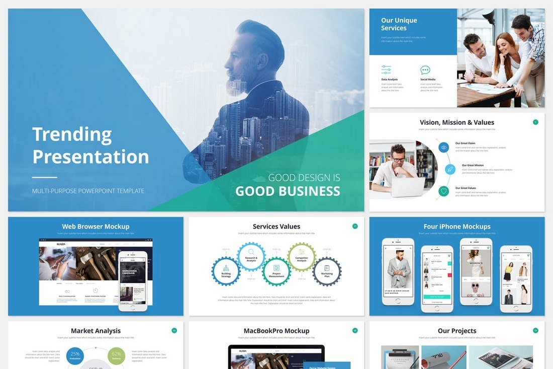 Trending-Cool-PowerPoint-Template 20+ Best Cool PowerPoint Templates design tips