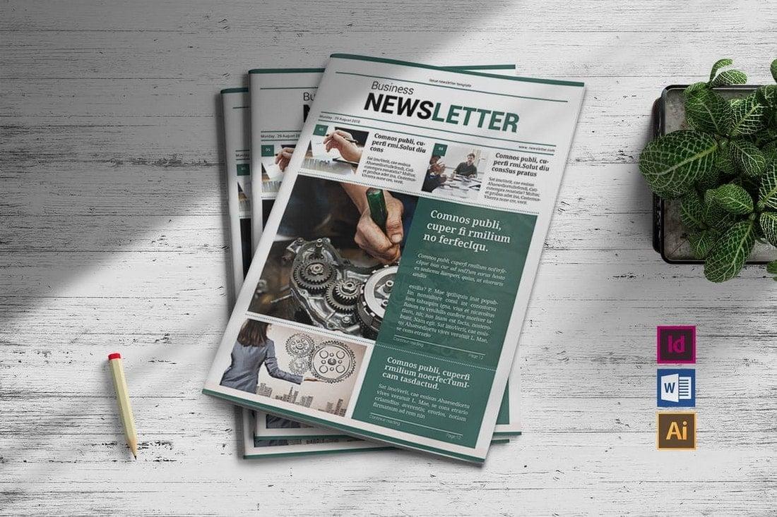 Trendy-Business-Newsletter-Template 20+ Best InDesign Newsletter Templates (Free & Premium) design tips  Inspiration