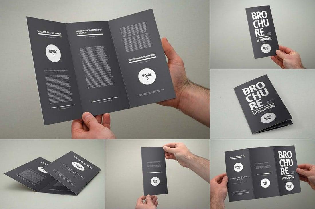 Tri-Fold Brochure Mocks with Hands
