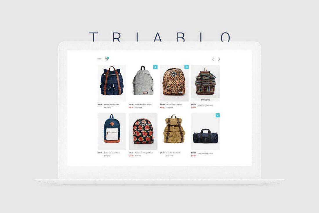Triablo-eCommerce-Landing-Page 30+ Clean & Minimal Landing Page Templates design tips