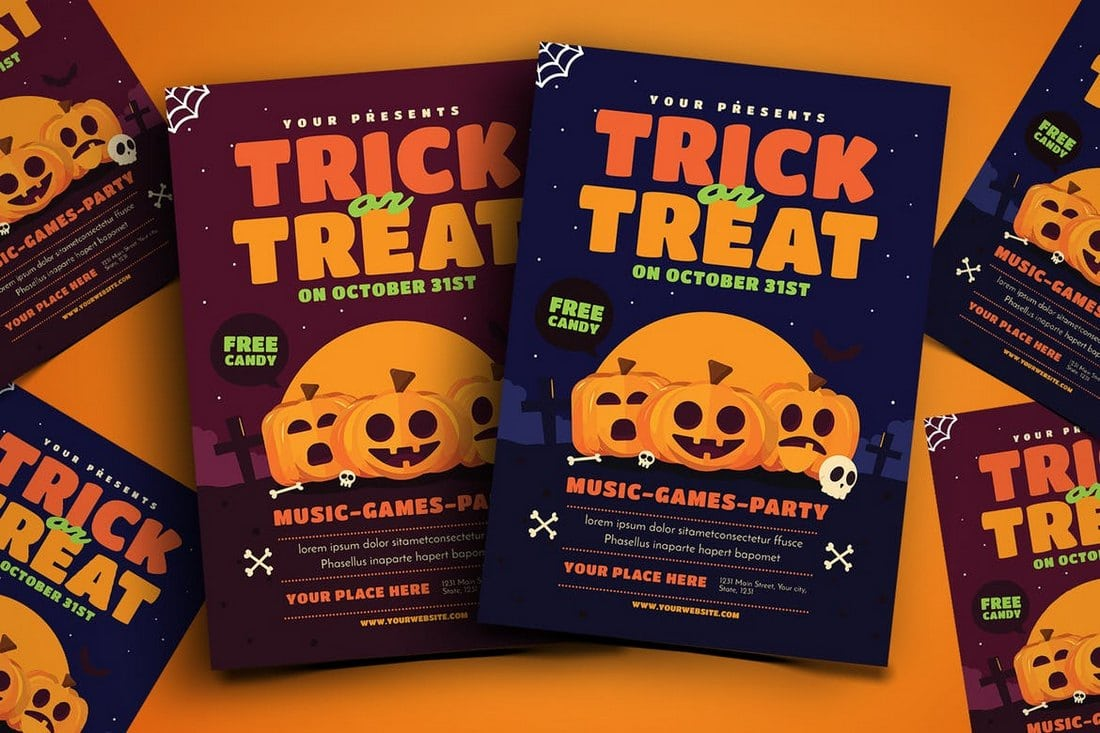 Trick-or-Treat-Halloween-Event-Flyer 20+ Best Event Flyer Templates design tips