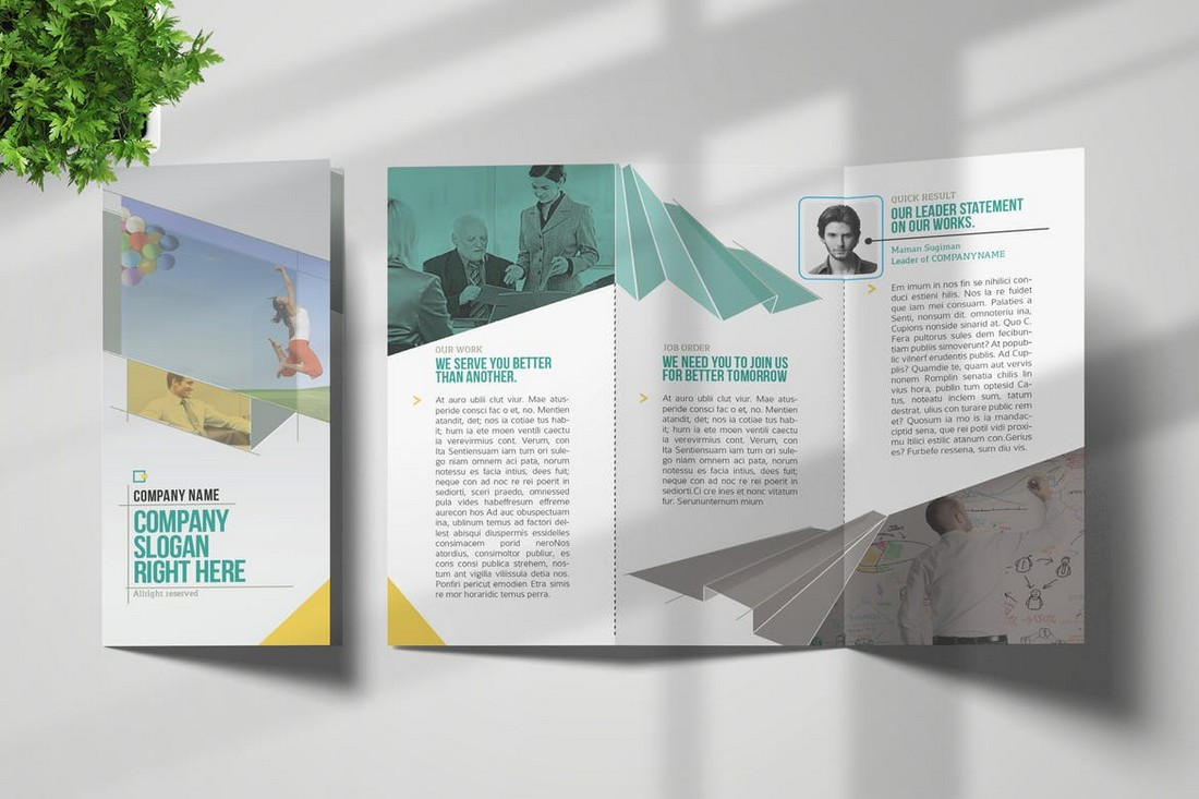 Trifold Brochure InDesign Template