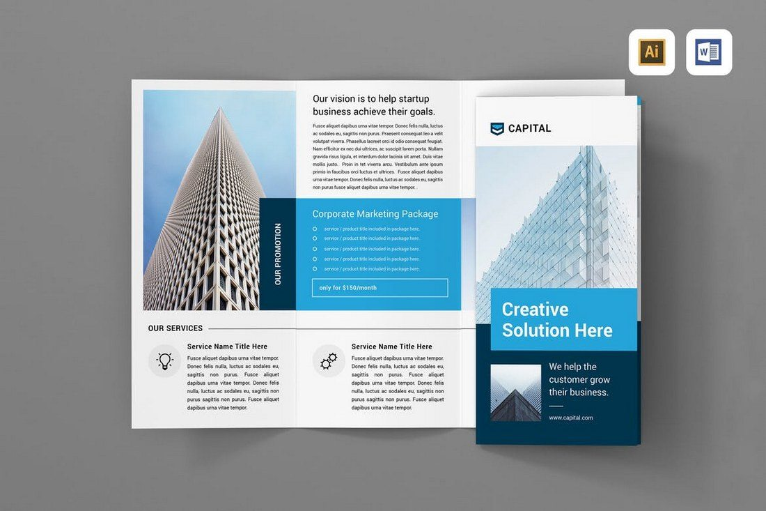 Best TriFold Brochure Templates Word InDesign Design Shack - Tri fold brochures templates