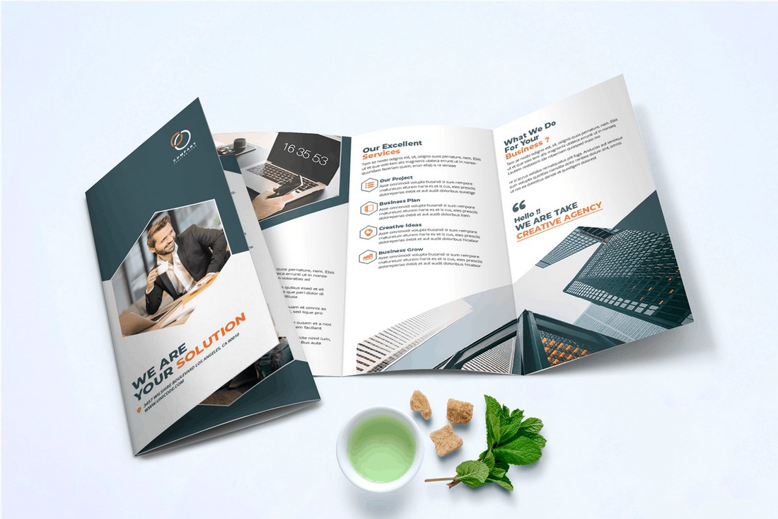 Trifold Business Brochure InDesign Template
