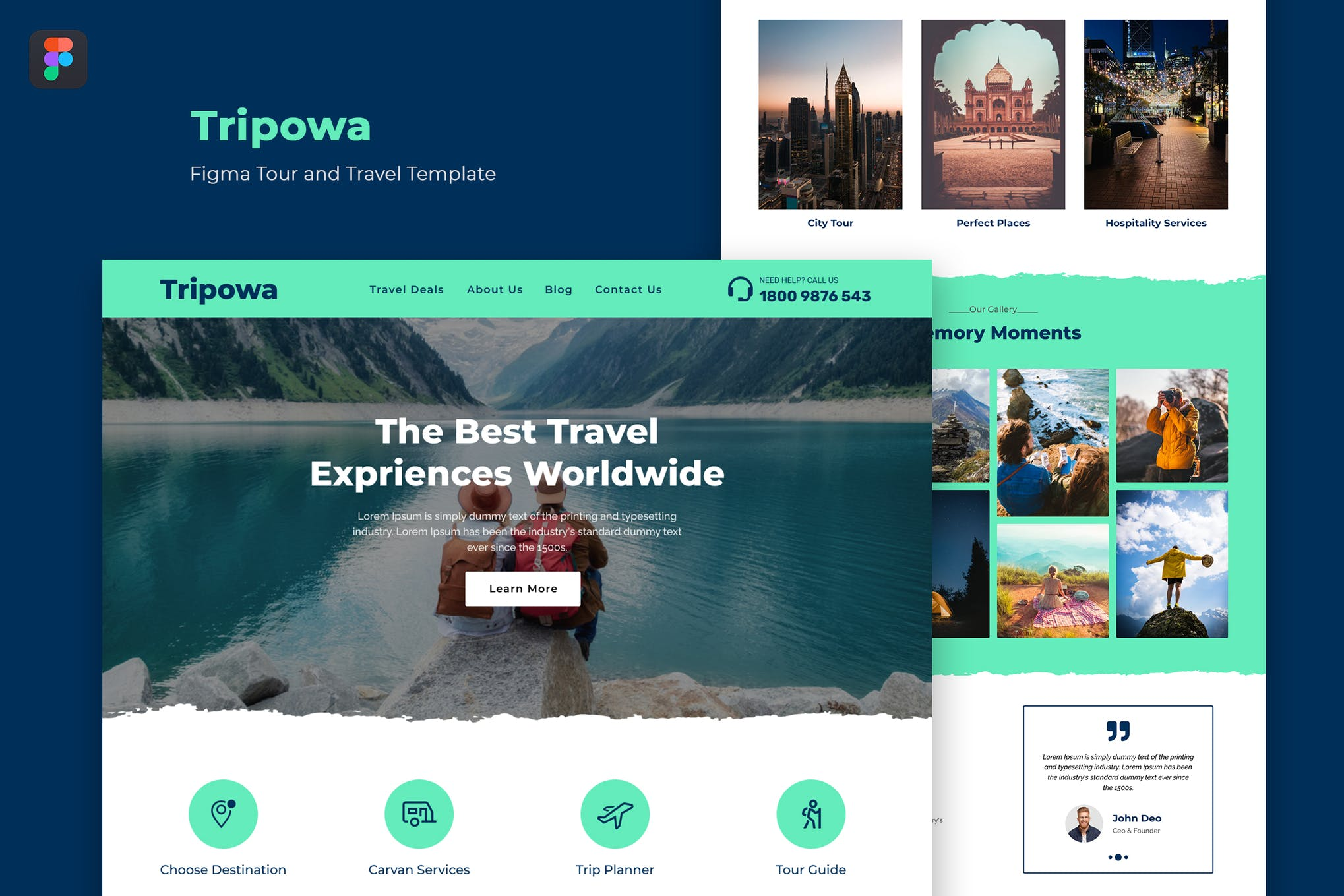Tripowa — Figma Tour and Travel Template