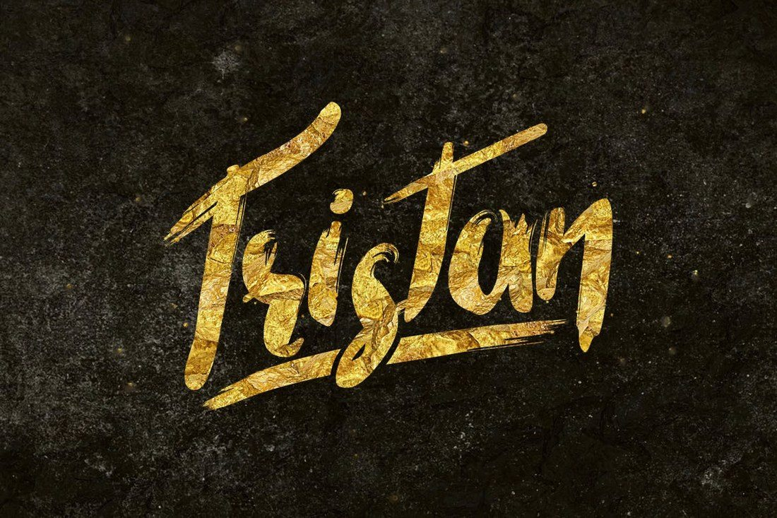 Tristan-Brush-Font 40+ Best Hand Lettering & Handwriting Fonts 2020 design tips  Inspiration|cursive|script