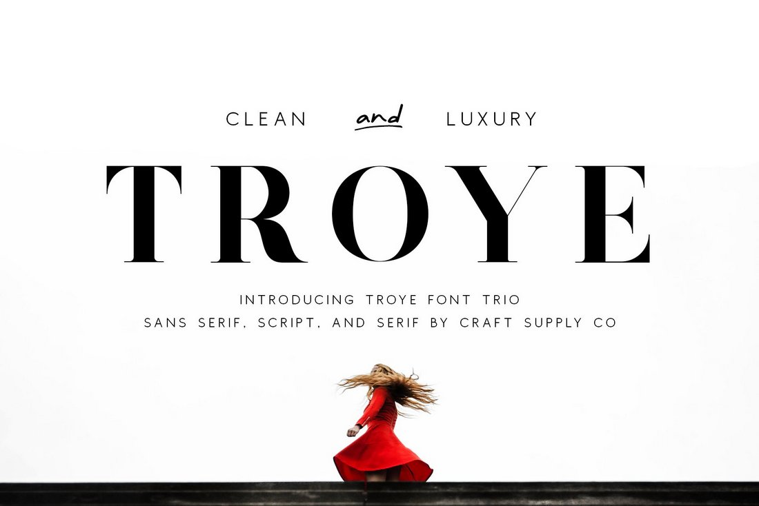 Troye - Free Modern Luxury Serif Font