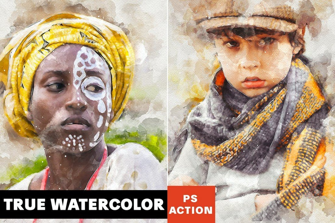 True Watercolor Photoshop Action