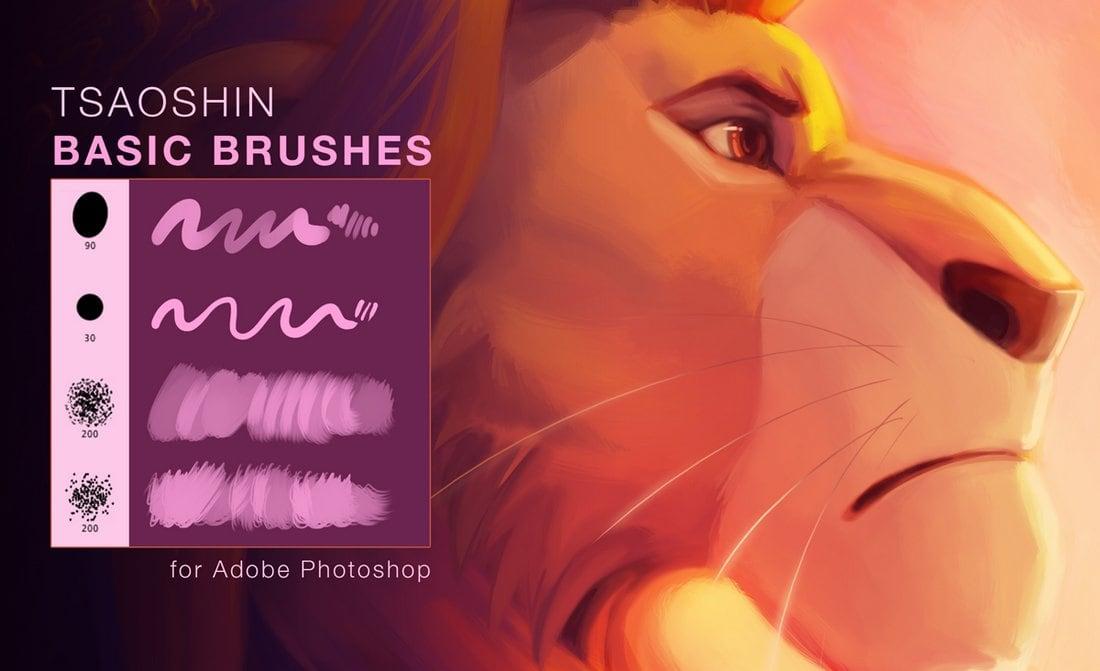 TsaoShin Free Photoshop Paint Brushes