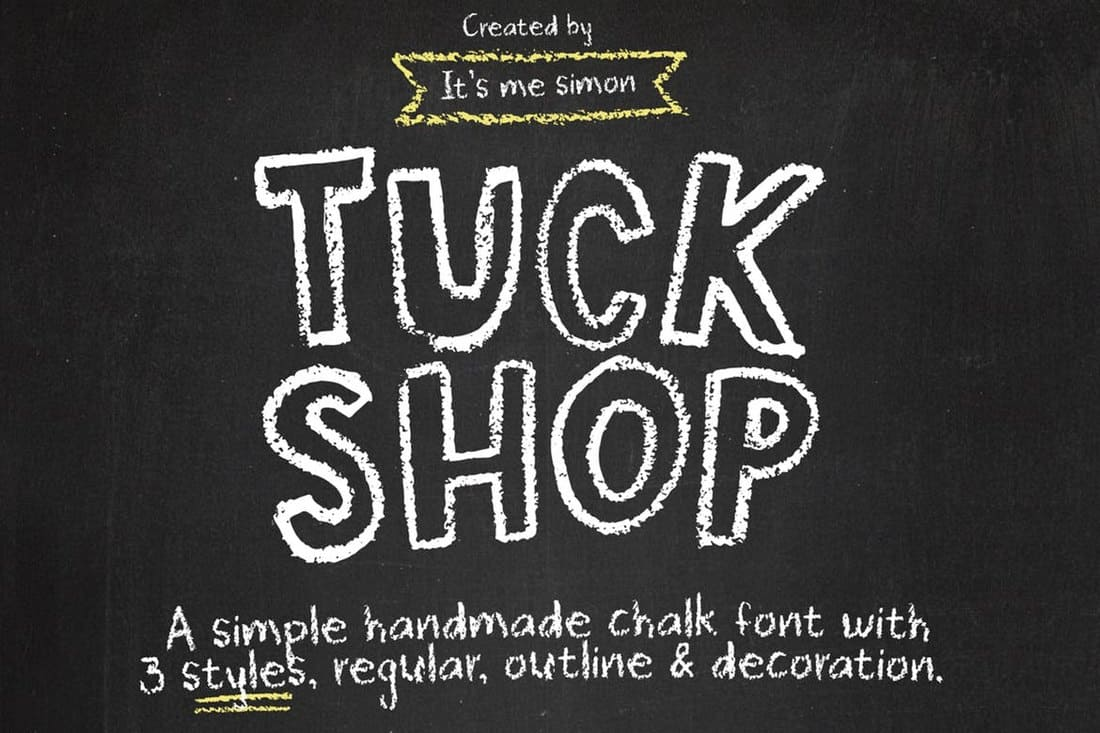 Tuck Shop - Fun Chalkboard Font