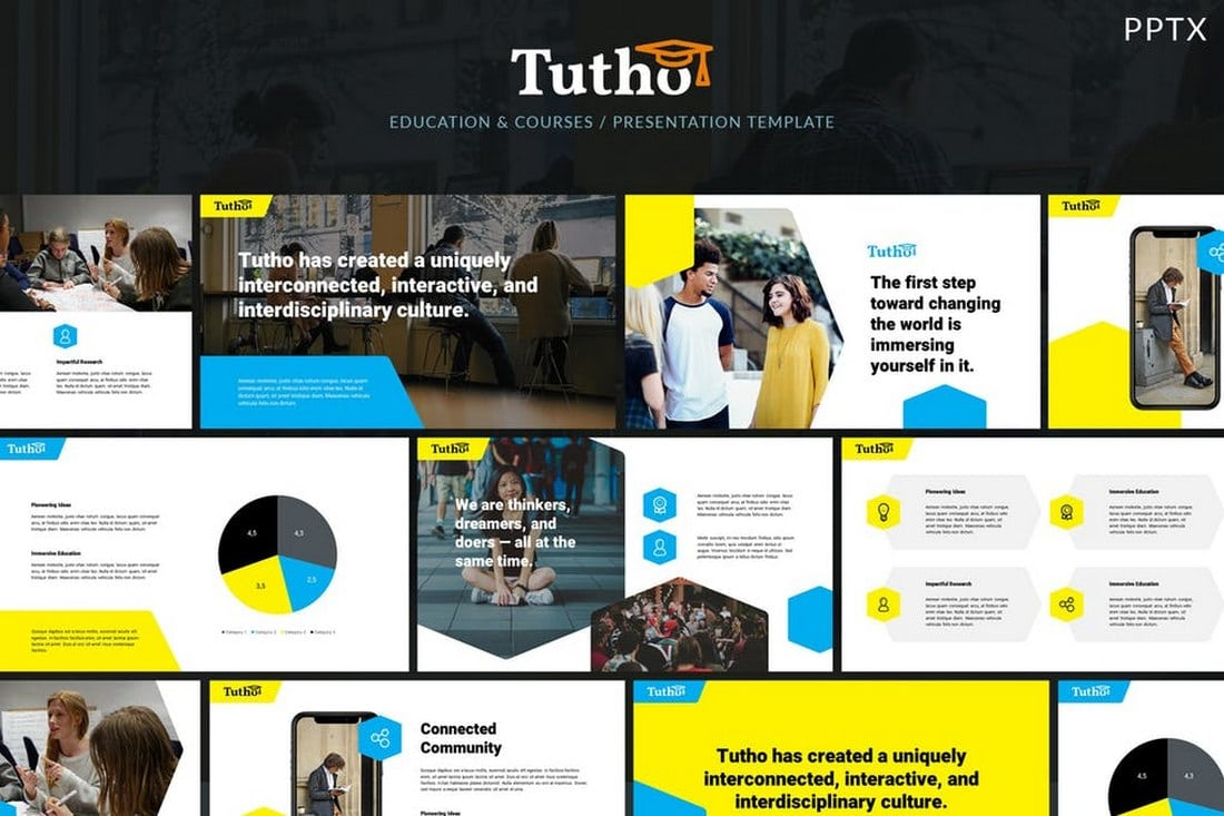 Tutho - Education & Courses Powerpoint Template