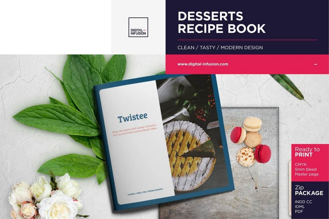 Twistee - Cooking Recipe Book Template