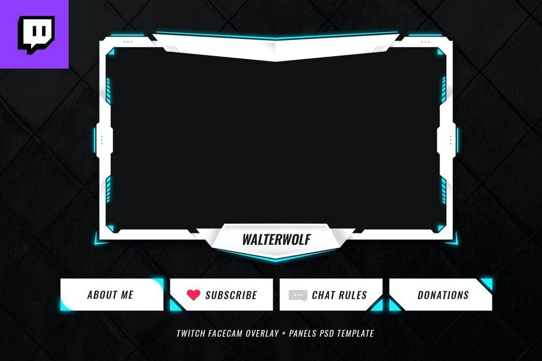 Twitch Overlay Template for eSports Teams