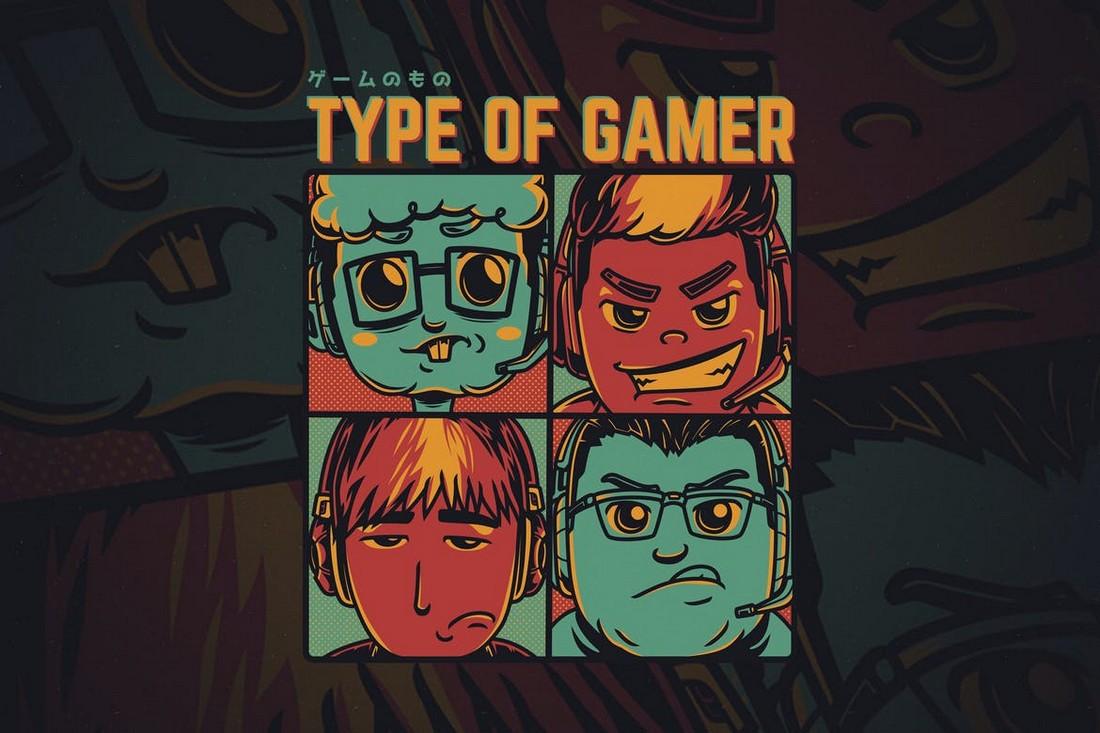 Type of Gamer - Custom T-Shirt Design