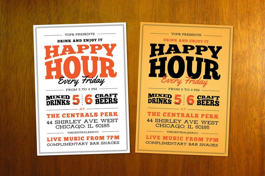 Typography-Happy-Hour Typographic Posters: 100 Stunning Examples design tips