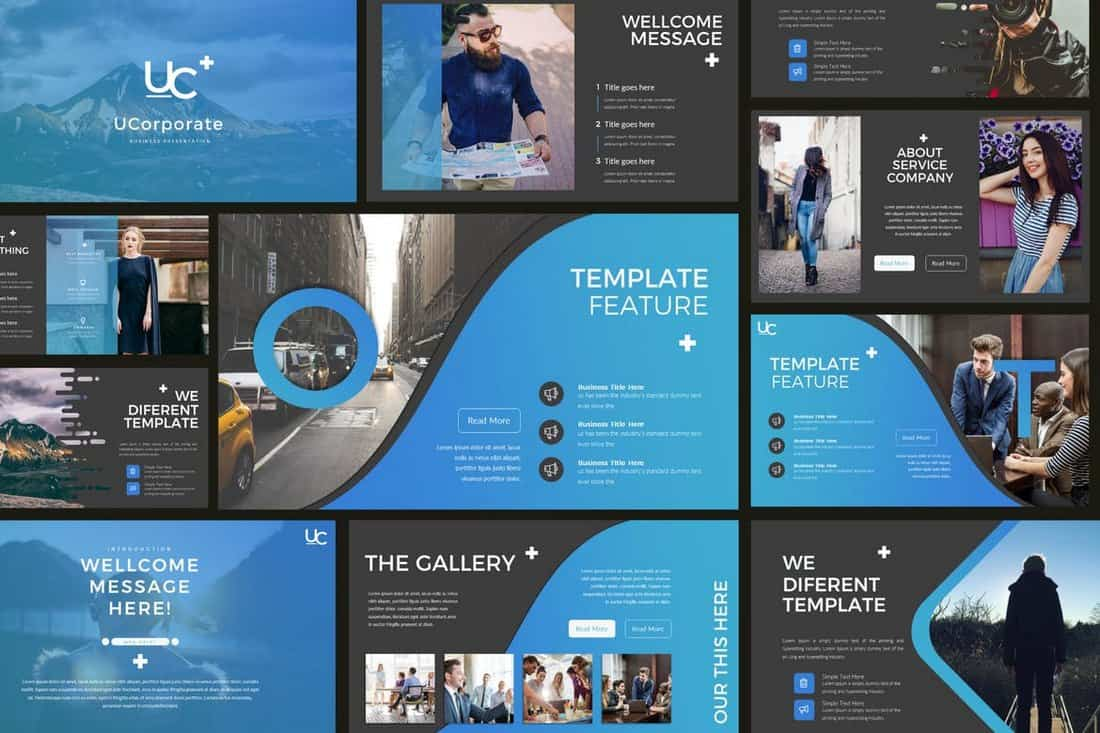 UCorporate Modern Business PowerPoint Template