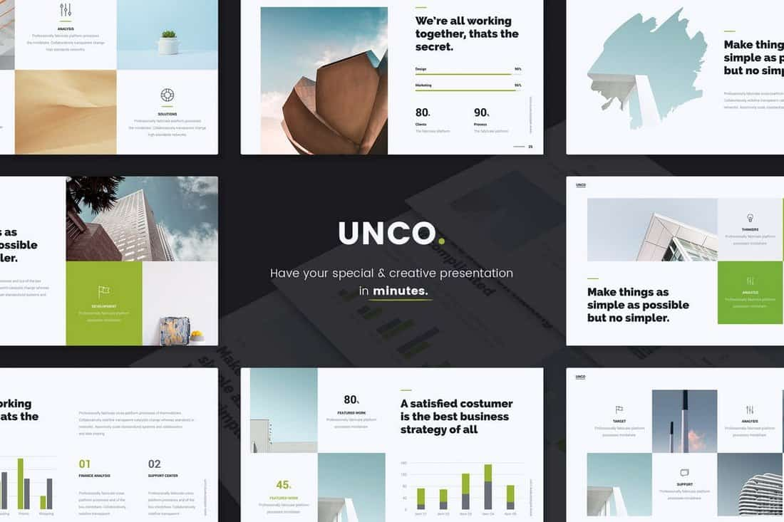 UNCO - Simple Business PowerPoint Template
