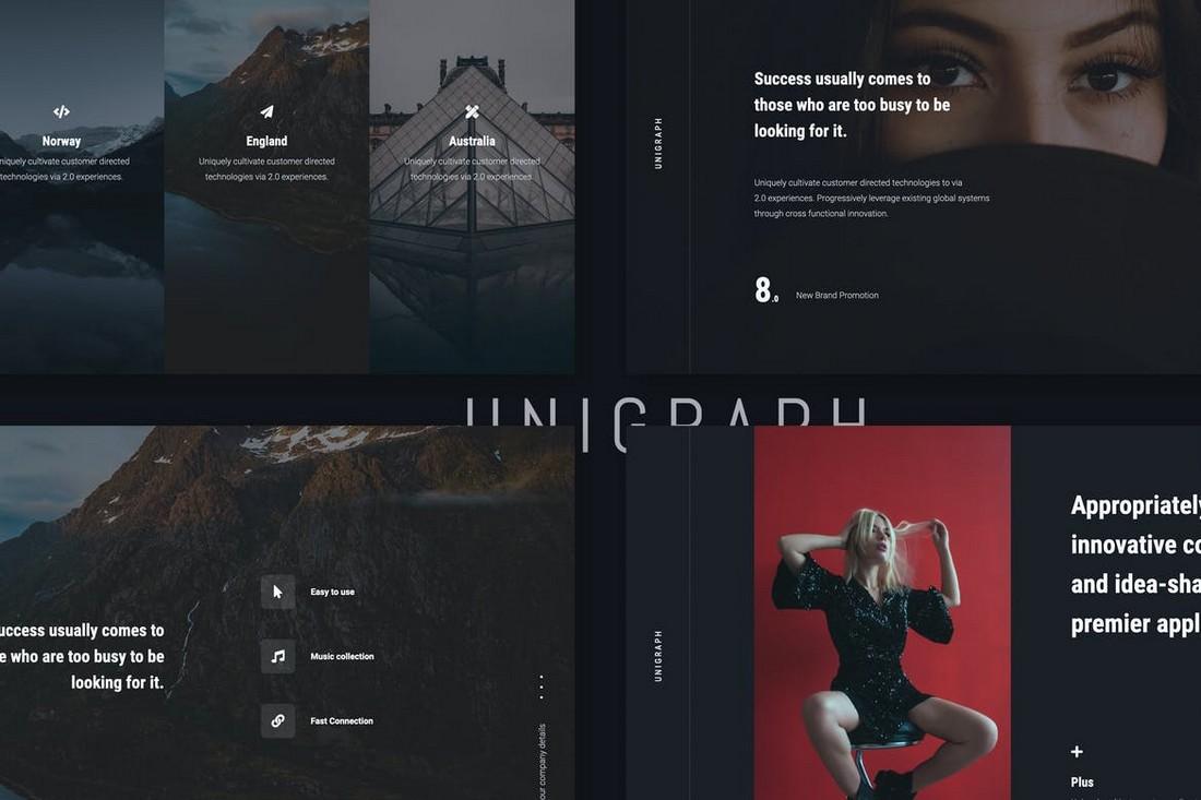 UNIGRAPH - Elegant PowerPoint Portfolio Template
