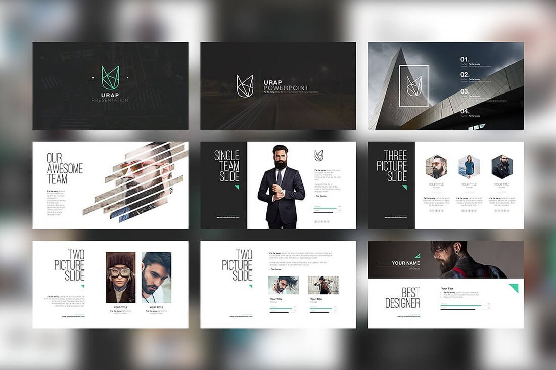 Fashion magazine layout template