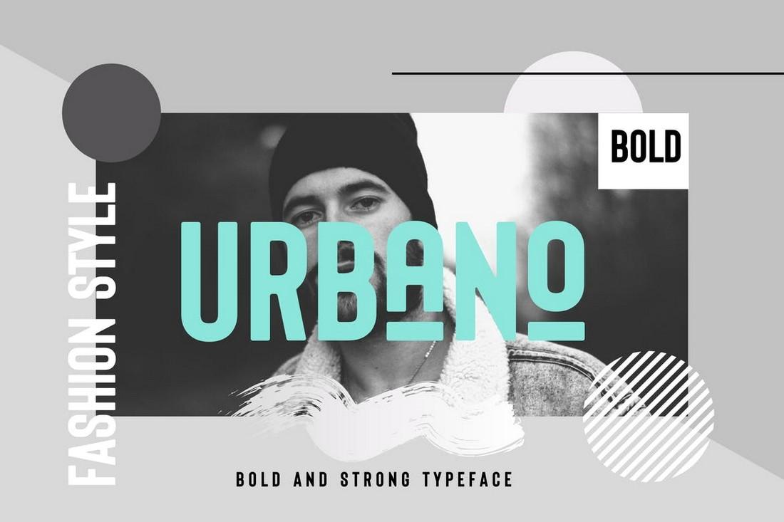 URBANO - Bold Header & Poster Font