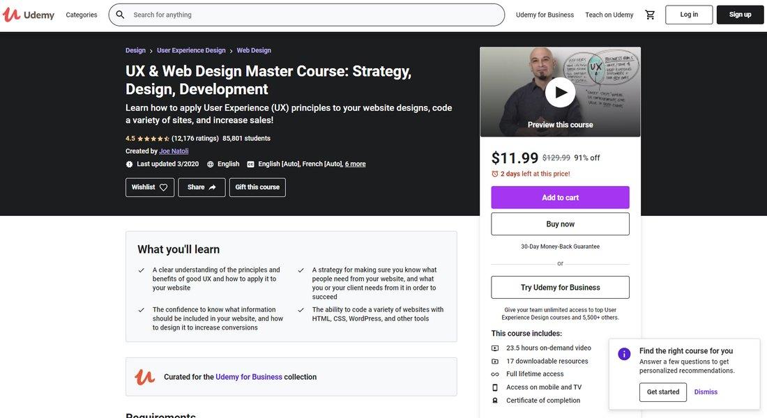 UX & Web Design Master Course