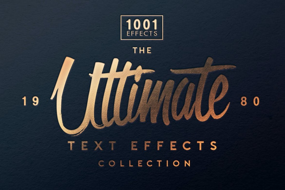 Ultimate 1001 Text Effects PSD Layer Styles
