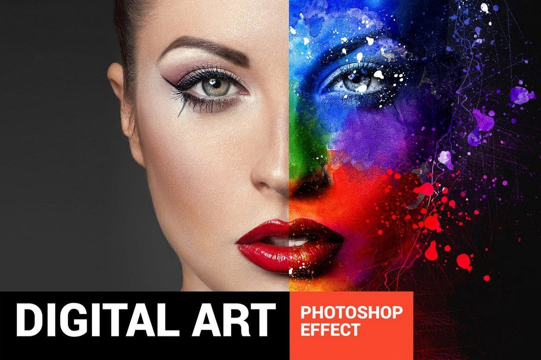 Ultimatum-Digital-Art-Photoshop-Action 20+ Best Watercolor Photoshop Actions design tips