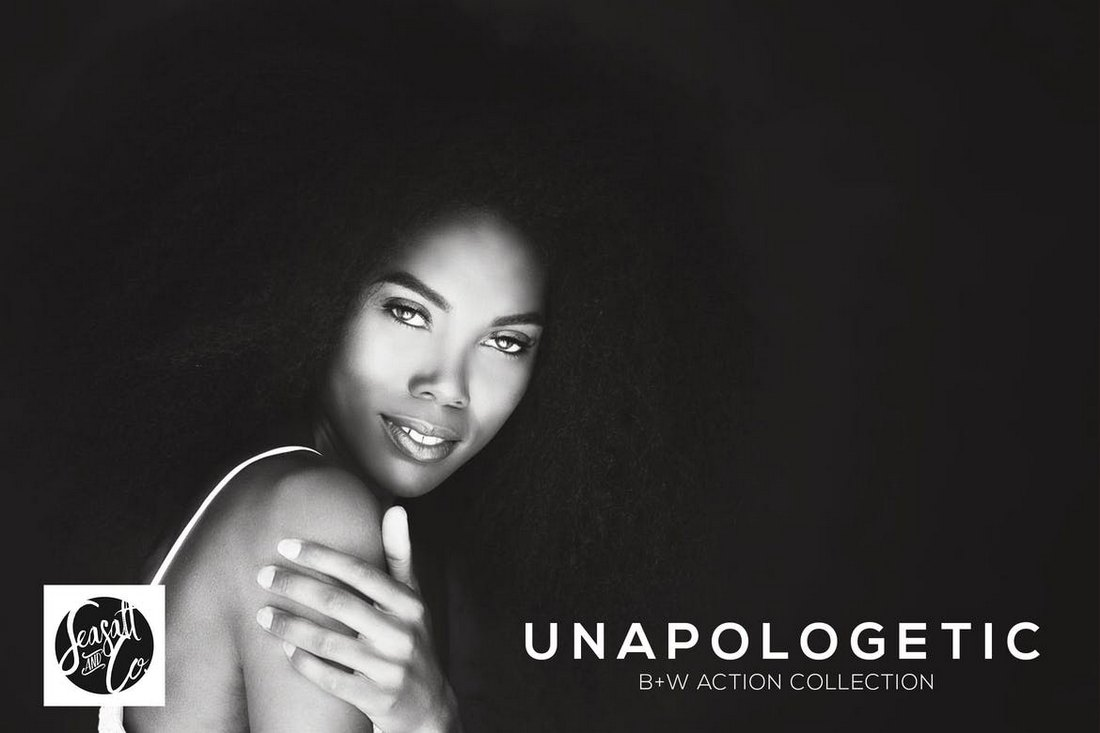 Unapologetic-BW-Photoshop-Action-Collection 20+ Best Black and White Photoshop Actions design tips