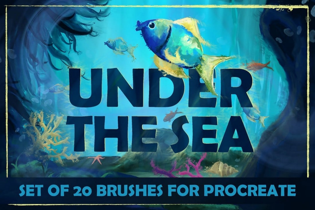 Under-The-Sea-Procreate-Brushes 30+ Best Procreate Brushes 2020 (Free & Pro) design tips