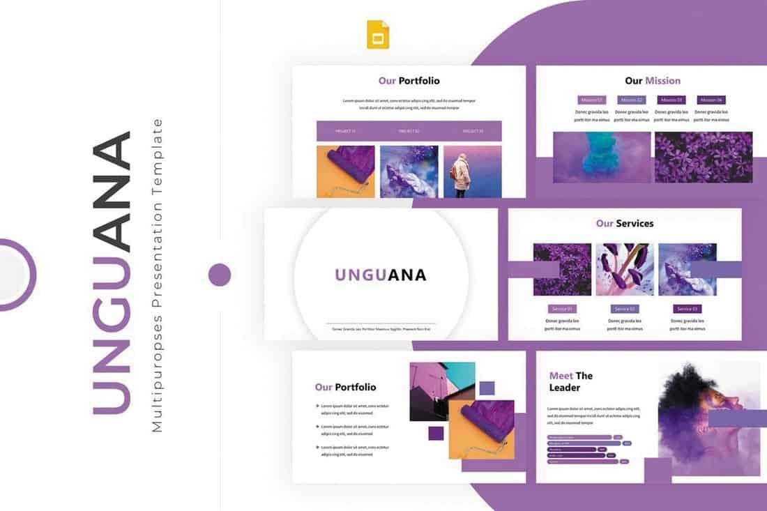 Unguana - Colorful Google Slides Template