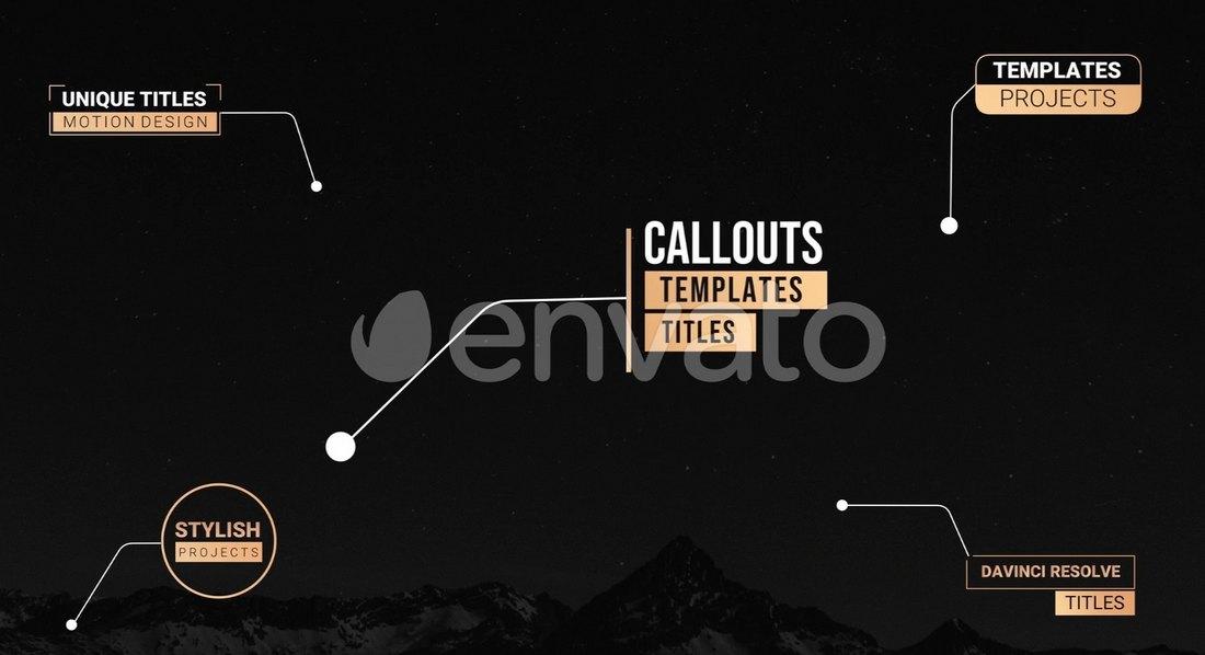 Unique Callout Titles - DaVinci Resolve Templates