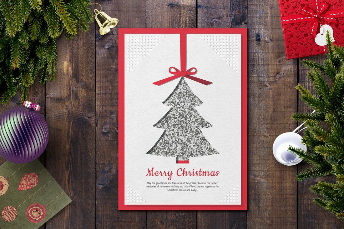 Unique-Christmas-Card-Template 20+ Best Christmas Card Templates for Photoshop design tips