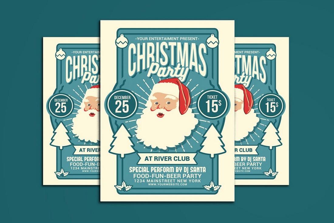 Unique Christmas Party Flyer Template