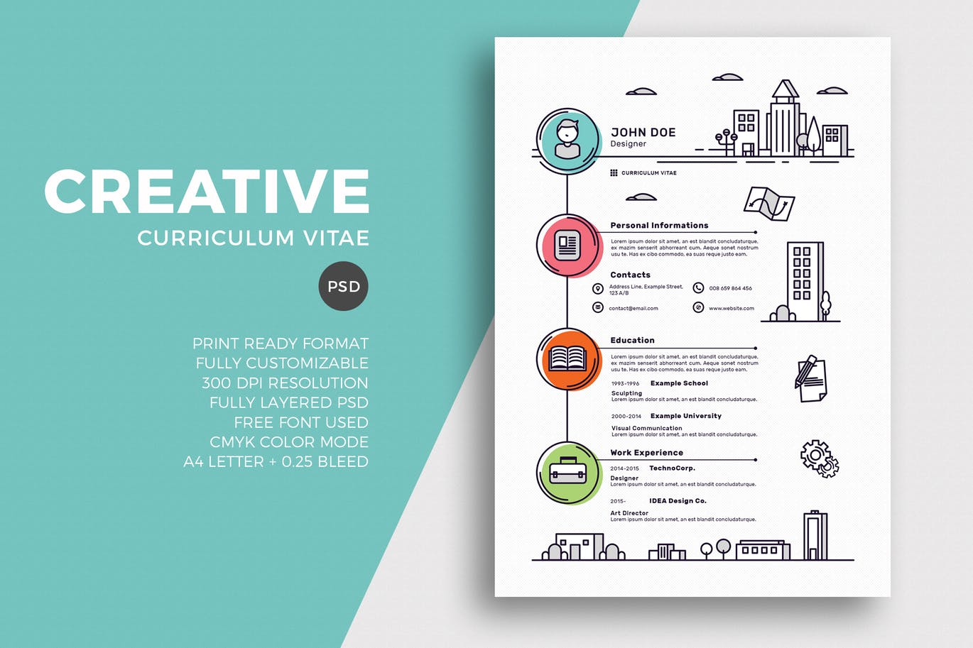 if youre a creative or someone who works with art this template will be perfect for your resume this is a unique and a creative resume template that - Creative Resume